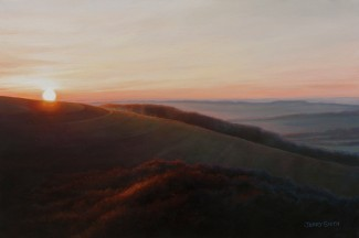 Old Winchester Hill (oil on canvas)