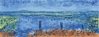 The Gathering- Farlington Marshes  Sugarlift Aquatint Etching 56cmx 38cm